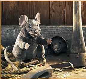 Maus Handpuppe