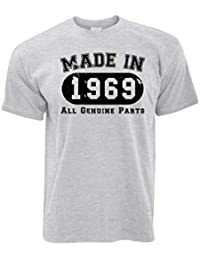 dbd23d384 Tim And Ted 50th Birthday T Shirt Made in 1969 All Genuine Parts