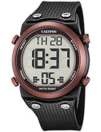 Calypso - Reloj digital unisex con pantalla LCD y correa de plástico de color negro K5705/3