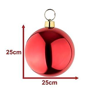 Your castle Grandes Bolas de Navidad Bolas 25 cm. con areo de Acero