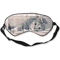 Eye Mask Eyeshade Gray Cat Gaze Sleep Mask Blindfold Eyepatch Adjustable Head Strap preisvergleich bei billige-tabletten.eu