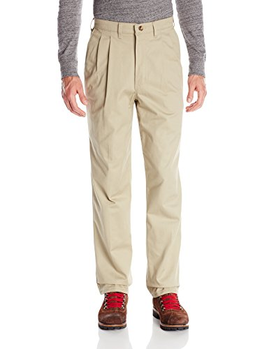 50W x 32L , Khaki : Red Kap Men's Pleated Front Cotton Pant