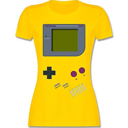 Nerds & Geeks - Gameboy - S - Gelb - L191 - Damen Tshirt und Frauen T-Shirt (Kostüm Nerd Ideen)