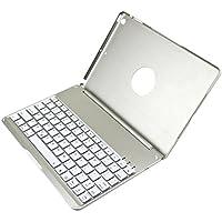 i-CaseBoard icase-08G - Funda con teclado QWERTY para Apple iPad Air 2 (teclas retroiluminados, Bluetooth 3.0)