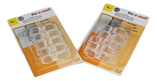 8 Türklinkenpuffer aus transparentem Gummi, Türstopper, Türpuffer, Türgriffpuffer für Tür- und Fenstergriffe