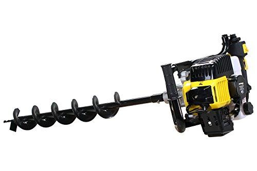 Craftworx Benzin Erdlochbohrer 52cc - 3 Ps - 2 Takt 3 Bohrer 100/150/200 Ø mm und 60 cm Verlängerung -
