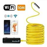 Bluefire endoscopio, WiFi de inspección cámara 2.0MP HD endoscópica con 6Leds para iOS, iPhone, Android, Tablet (10/15Metros)