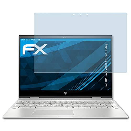 atFolix Schutzfolie kompatibel mit HP Envy x360 15-cn1004ng Folie, ultraklare FX Displayschutzfolie (2X)