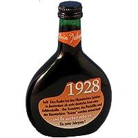 """Bocksbeutel zum 90. Geburtstag """"Jahrgang 1928"""" 0,25 l Franken Qualitätswein"""