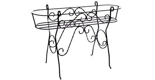 Fioriera in ferro battuto porta cassette art. 25.074 - 100% made in italy -