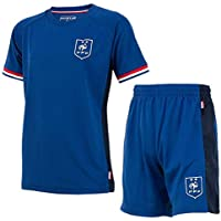 FFF - Maillot & Short de Foot Equipe de France Enfant '2 Etoiles' - Bleu
