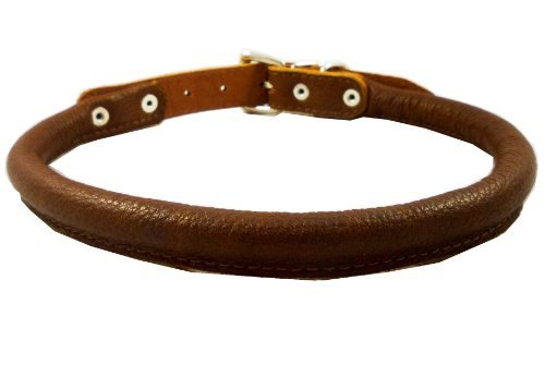 high-quality-genuine-leather-rolled-dog-collar-175-21-neck-size-chow-chow-collie-labrador-by-dogs-my
