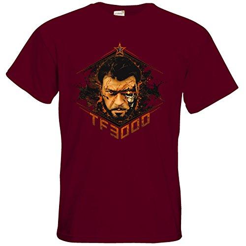 getshirts - Tobinator Official Merchandise - T-Shirt - TF3000 Burgundy
