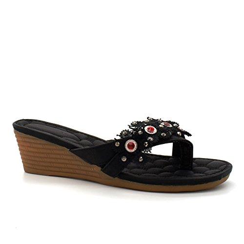 London Footwear ,  Damen hinten offen Beige