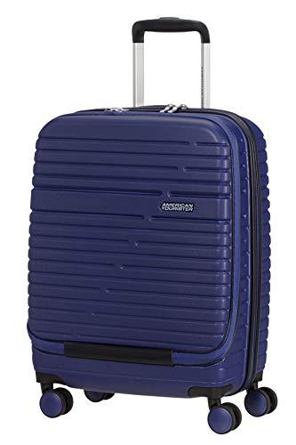 American Tourister Aero Racer, Bagaglio a Mano Spinner Piccolo, Frontloader, 55 cm, 38.5 L, Nocturne Blue (Blu)