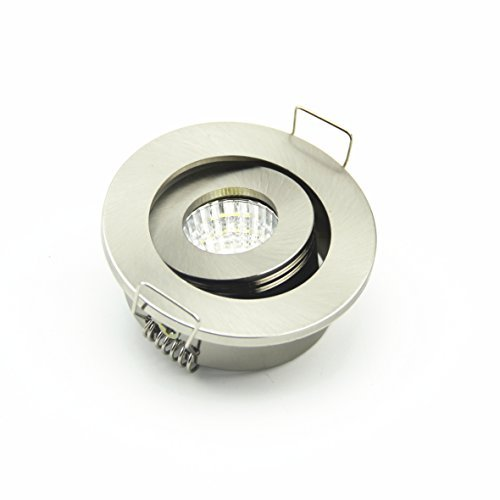 Lot de 10 mini Nickel satiné 3 W Spot LED Encastrable à lumière COB Spot pour maison 42 cm ouvert trou 3000 K
