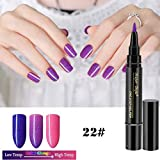 Watopi One Step Vernis à ongles gel Pen, sans base top coat besoin, Saviland 3 en 1 Soak Off UV LED Vernis à ongles nail art Kit