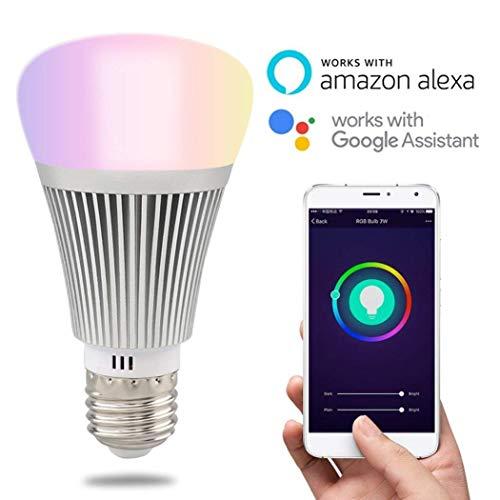 RPS Bombillas inteligente Wifi Sonoff B1, Bombillas inalámbrica de color multicolor RGB,Led Bombillas remota,Bombillas el temporizador por control del teléfono, Bombillas despertador (6W E27)