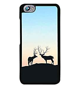 Deers on a Hill 2D Hard Polycarbonate Designer Back Case Cover for Micromax Canvas Fire 4 A107