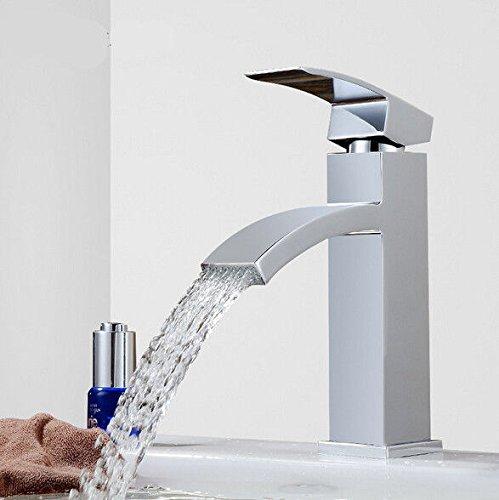 UHM Stand-Freeottone cascata vasca da bagno rubinetto singolo sink di