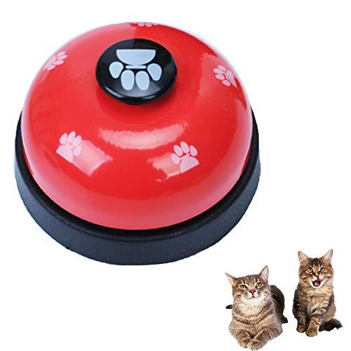 Thumbelin Campana De Adiestramiento De Perros 1PC Campanas De Adiestramiento De Mascotas para Perros Timbre para Mascotas Lindo Timbre para Comer para Mascotas Timbre para Gato para Perros (Rojo)