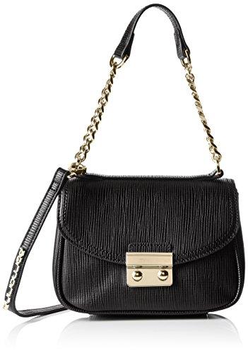 FornarinaIRIS - bolsa de medio lado Mujer , color Negro, talla 18x12x9 cm (B x H x T)