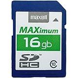 Maxell de 16GB SDHC Carte SDHC 16GB Vitesse Jusqu'à 80MB/S Classe 10 3 Pièces