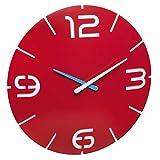 TFA Dostmann Contour 60.3047.05Diseño Reloj de Pared, plástico, Rojo/Blanco, diámetro 350x (H) 35mm,