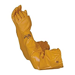 Atlas 772 Nitrile Coated Gloves 26 inch Long Cotton Lined, Chemical Resistant, Water, Pond, Work, Medium by Atlas