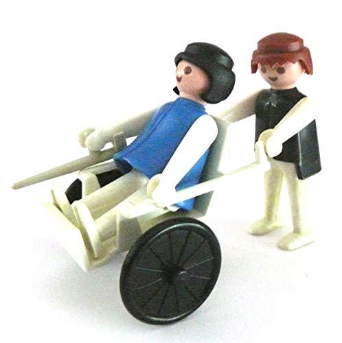 playmobil ® - Klinik - Krankenhaus - Rollstul mit Patient und Besuch/Betreuer - Pfleger
