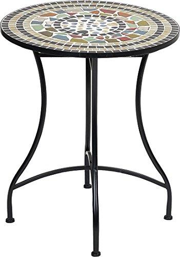 Primaster Mosaik Rundtisch Champagne Dekotisch Gartentisch Beistelltisch