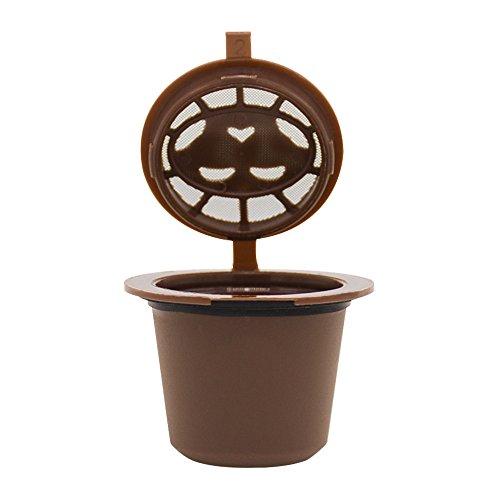 YOY Nachfüllbare, Wiederverwendbare Kaffeekapseln für Nespresso-Maschinen Filter (B)