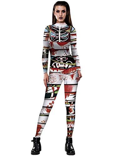 Tanz Kostüm Lager - UR MAX BEAUTY Frauen Halloween Cosplay Kostüme Overall Tanz Shows Strampler,2,L
