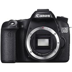 Canon 70D Appareil photo numérique Reflex 20,9 Mix Boîtier nu Noir - Manuel en espagnol/portugais/grec