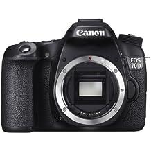 """Canon EOS 70D - Cámara réflex digital de 20.2 Mp (pantalla articulada 3"""", vídeo Full HD), color negro - sólo cuerpo"""