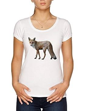 Vendax Zorro Camiseta Mujer Blanco