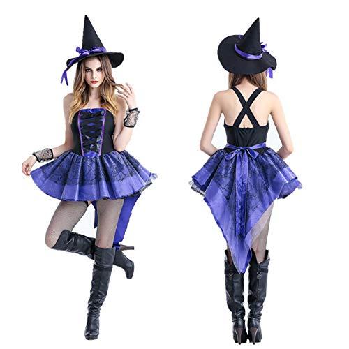 GBYAY Halloween Hexe Kleid Karneval Cosplay Kostüme für Frauen Erwachsene Scary Horror Circus Devil Party Performance Kleidung (Ideen Disfraces Halloween 2019)