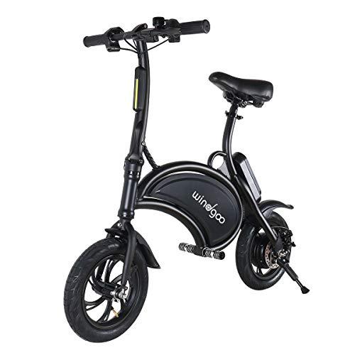 BEBK Vélo Électrique de Ville Pliant, Vitesse Réglable, 12 Pouces Roues, Jusqu'à 30 km/h, Batterie au Lithium LG 36V/4.4Ah,...