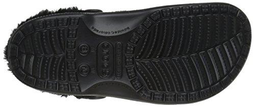 Crocs Unisex Baya peluche bordée Clog Black/black