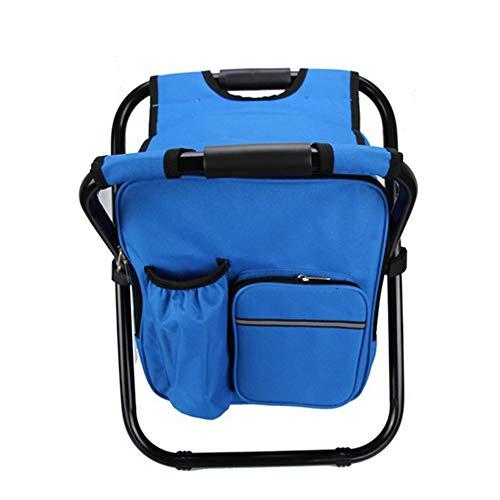 Yarmy Multifunktionsklapp Camping Angeln Stuhl Hocker Rucksack mit Kühler Isolierte Picknicktasche Wandern Picknick Sitz Tischtasche -