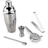 Set Cocktail Shaker con 5 Pezzi In Acciaio INOX Capacità 750ML (Acciaio Inox Bar Set)