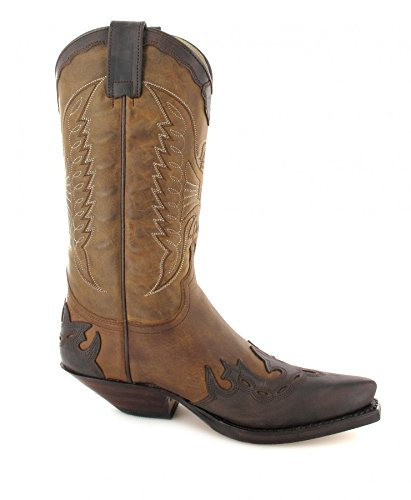 Sendra boots bottes 2560 westernstiefel cowboystiefel (différents coloris) Marron - Chocolate Tang
