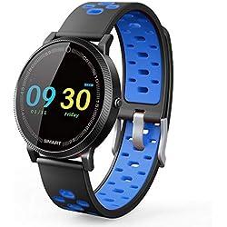 HHJEKLL Bracelet Intelligent Smart Watch Men Moniteur de fréquence Cardiaque imperméable à l'eau Smartwatch Smart Sport Watch Montre des appareils Portables pour Femmes pour iOS Android, Smartwat