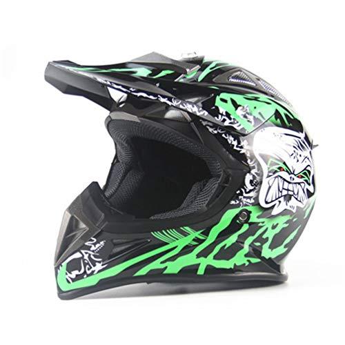 Qianliuk Moto Casco Hombre Bicicleta de montaña Cascos completos Motocross Casco Moto Casco abatible