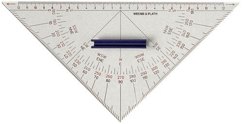 Weems & Plath Marine Navigation Protractor Triangle with Handle by Weems & Plath -