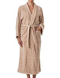 0946a8b926 eLuxurySupply Unisex Terry Cloth Robe - 100% Long Staple Cotton Hotel Spa