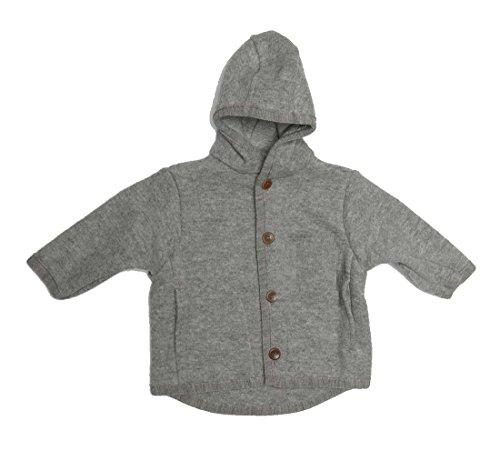 Disana Kinder Baby Walk-Jacke 100% Bio-Schurwolle (110/116, grau)