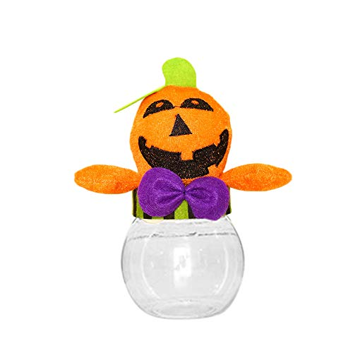 Kürbis Hexe Fledermäuse Ghost Demon Crystal Candy Dish Kunststoff Zuckerdose Cookie Jar BPA frei Halloween Süßes oder Saures Goody Container Spooky Holiday Party Favors ()