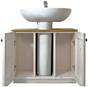 Mobile bagno rustico sotto lavabo in legno di pino colore for Amazon arredo bagno