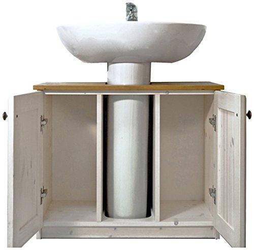 Arredamenti rustici mobile bagno rustico sotto lavabo in legno di pino -colore naturale
